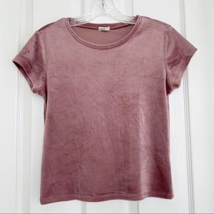 {Garage} Pink Scoop Neck Short Sleeve Tee | XS